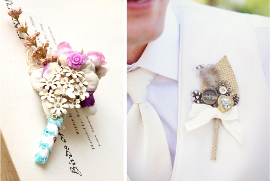 alternative boutonnieres, groom