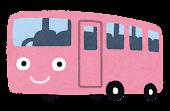 バスのキャラクター「ピンク」