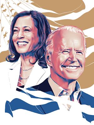President Joe Biden & Vice-President Kamala Harris Inaugural Poster by Tracie Ching