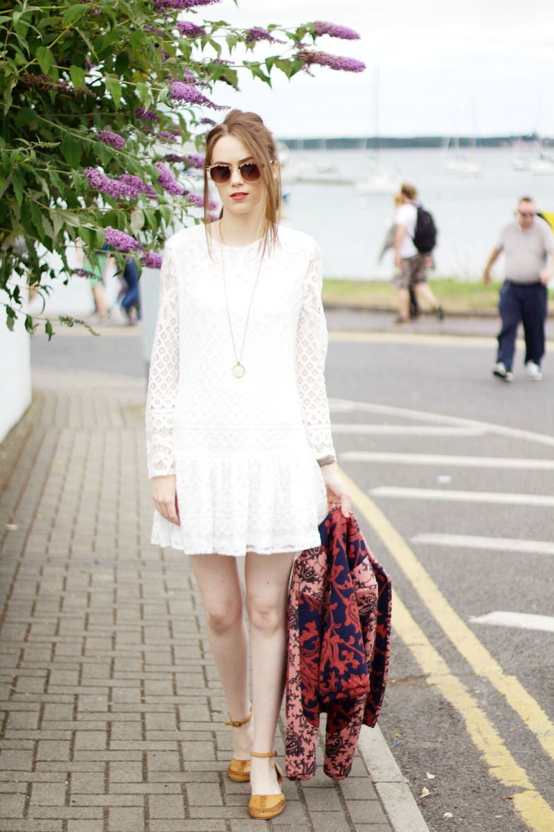 How to style the little white dress