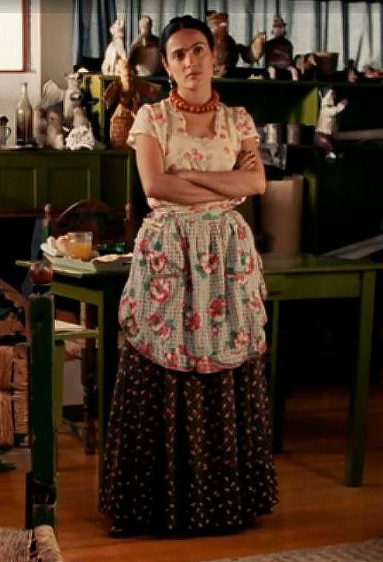 Frida Kahlo figurino filme, roupa mexicana