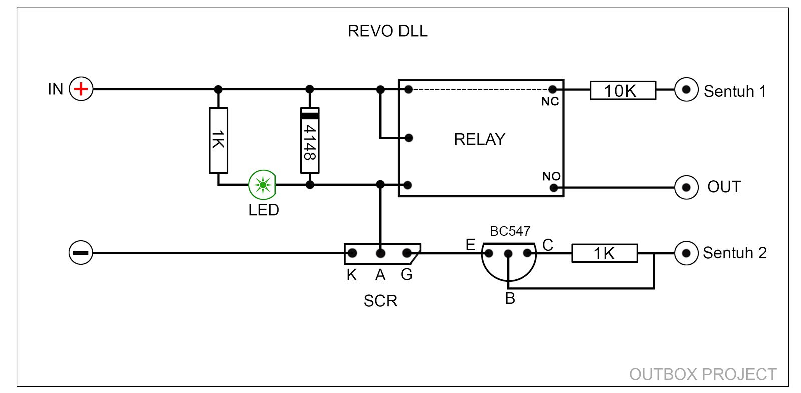 outbox project membuat pengaman motor sederhana dengan sensor