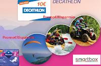 Logo ''Osa e vinci con Nuvenia 2019'': buoni Decathlon come premio certo e vinci cofanetti Smartbox