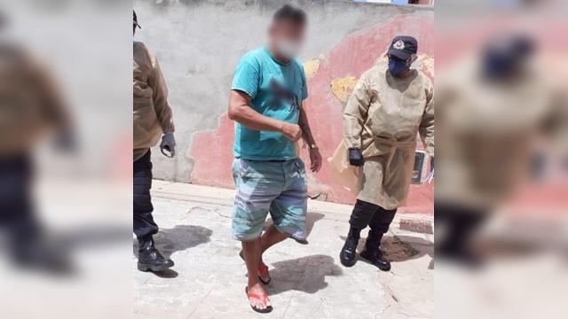 Vídeo: Policia Militar detém homem testado positivo para COVID-19 na fila da Caixa