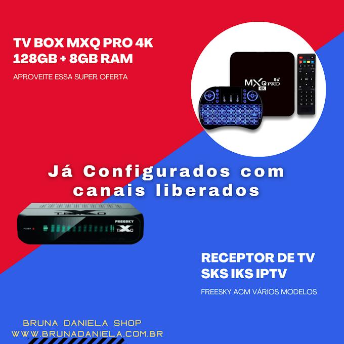Receptor de TV ACM Via Satélite SKS IKS com IPTV vários modelos