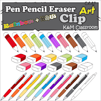 Pen Pencil Eraser Clip Art