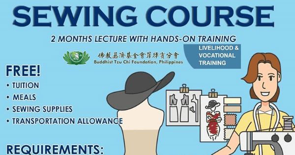 Sewing Course 2 lecture with hands-on training | FREE Transportation Allowance