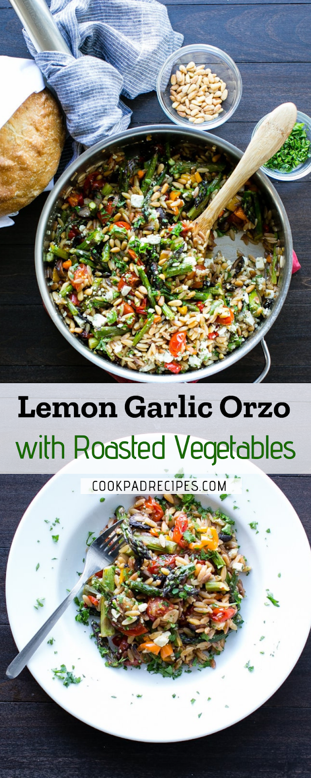 Lemon Gаrlіс Orzo wіth Roasted Vegetables