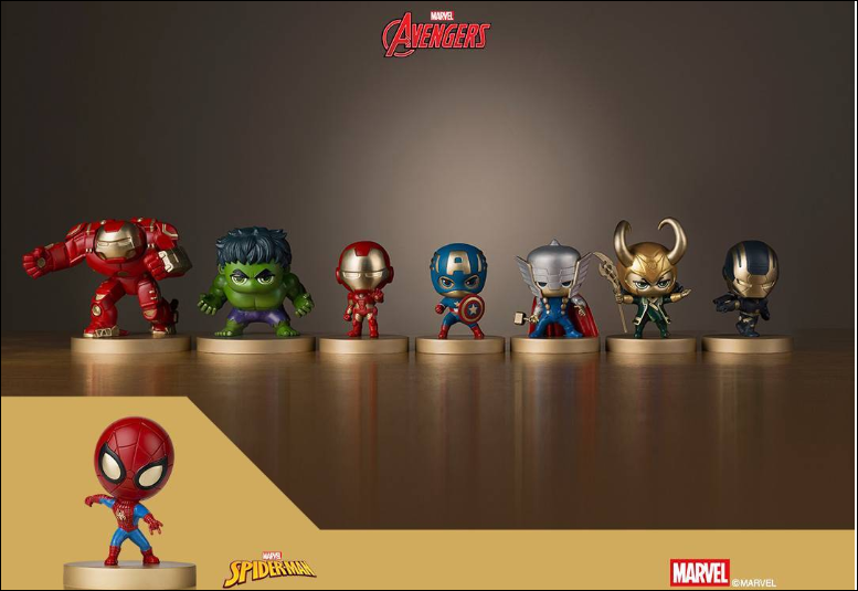 xiaomi cute little marvel superhero figures crowdfunding