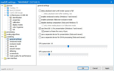madVR HDR settings