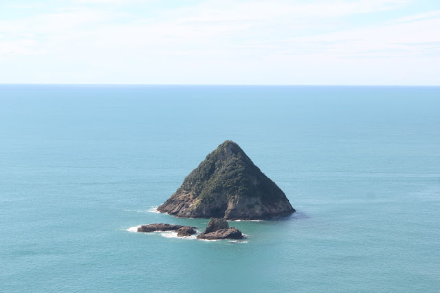 View of Sugar Loaf Island from Paritutu Rock