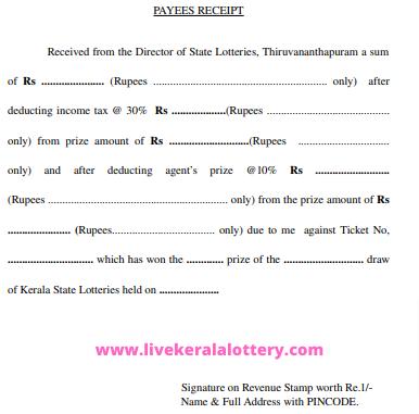 Kerala lottery claim form pdf