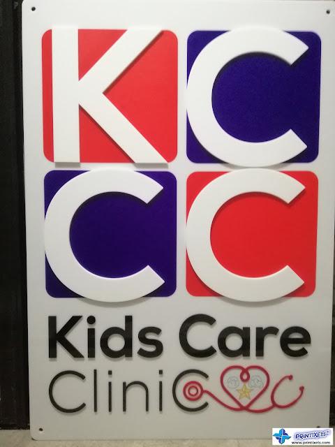Acrylic Logo Signage - Kids Care Clinic