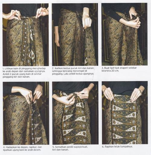 Tutorial Memakai Kain Batik Tanpa Perlu Dijahit Dulu, Hanya Dililit Saja