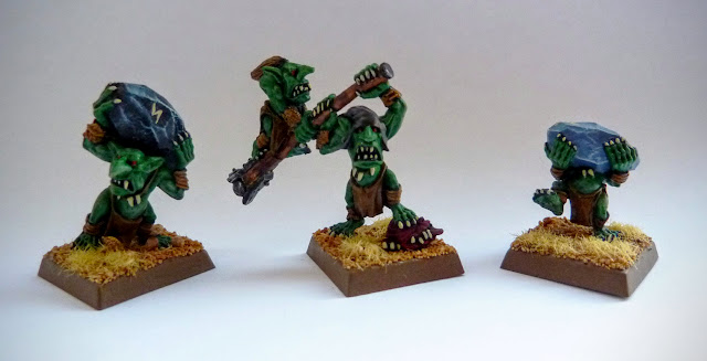 Rock Lobba crew for Orcs & Goblins, Warhammer Fantasy Battle