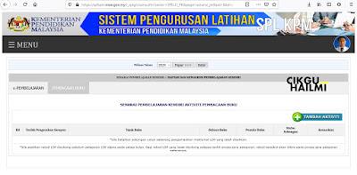 Baca buku pun boleh masuk dalam SPLKPM - Sistem Pengurusan Latihan Kementerian Pendidikan Malaysia