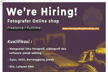 Lowongan Kerja Bandung Fotografer Online Shop