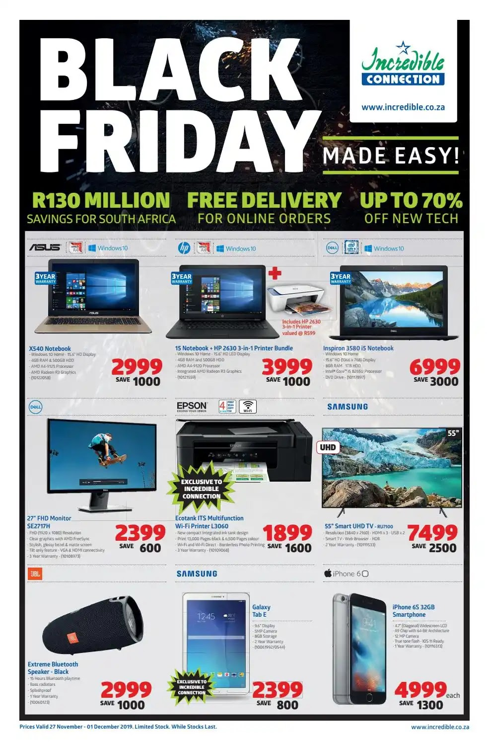 Incredible Connection Black Friday Deals  -  Page 1