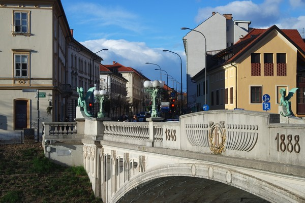 ljubljana art nouveau pont dragons zmajski most