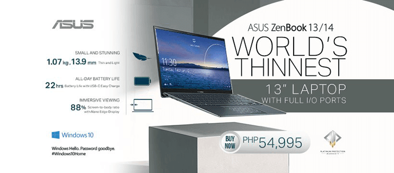 The super slim ASUS ZenBook 13 and 14 2020 arrives in PH, starts at PHP 54,995