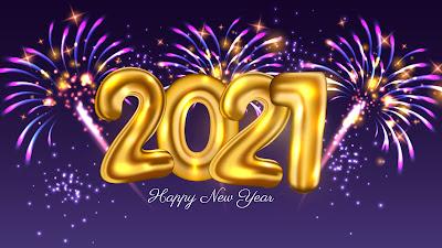 Golden Balloons 2021 New Year Firework