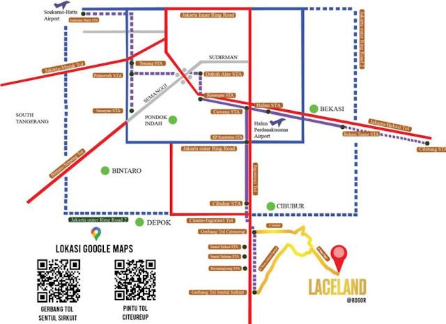 Peta lokasi laceland bogor