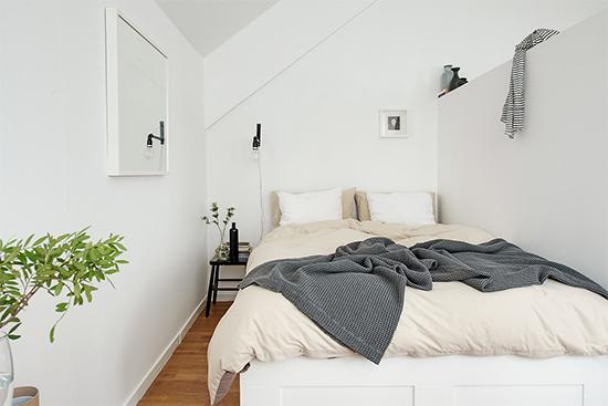 sala e quarto integrados, apartamento pequeno, integrar espaços, quarto pequeno, quarto claro