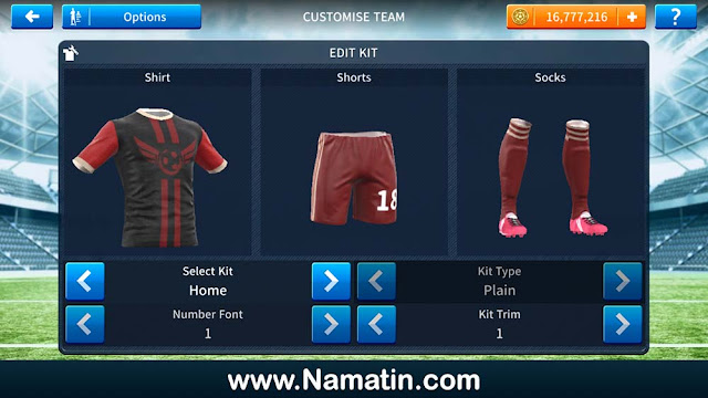 Kostum Dream League Soccer Futsal Black Steel