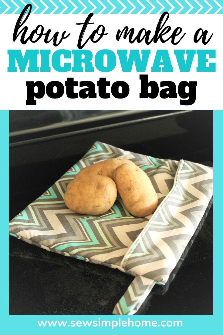All Cotton bag for cooking potatoes potato sack Mason Jar Potato Bag Microwavable baked potato bag