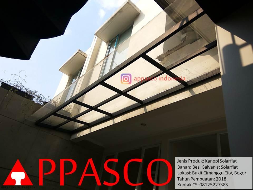 Kanopi Bening Transparan Solarflat di Bukit Cimanggu City Bogor