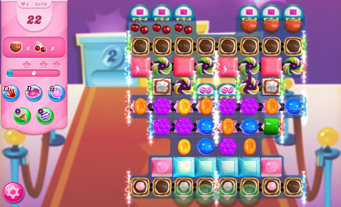 Candy Crush Saga level 6870