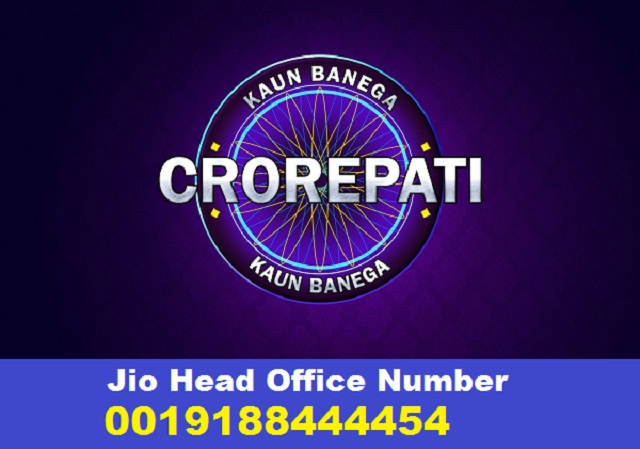 Jio Head Office Number 0019188444454