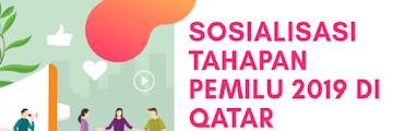 Sosialisasi Tahapan Pemilu 2019 di Qatar