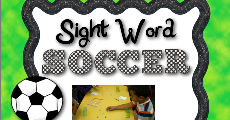 Sight Word Soccer Freebie