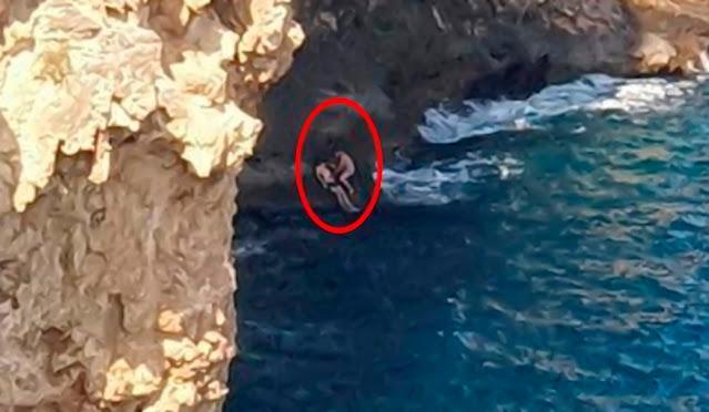 В Турции россиянин на спор спрыгнул с 40-метровой скалы в море и погиб — видео