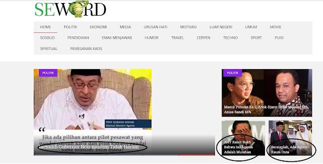 Nah Loh Yang Doyan, Tim Anies-Sandi: Banyak Situs Opini yang Sebarkan Hoax seperti Seword.com !