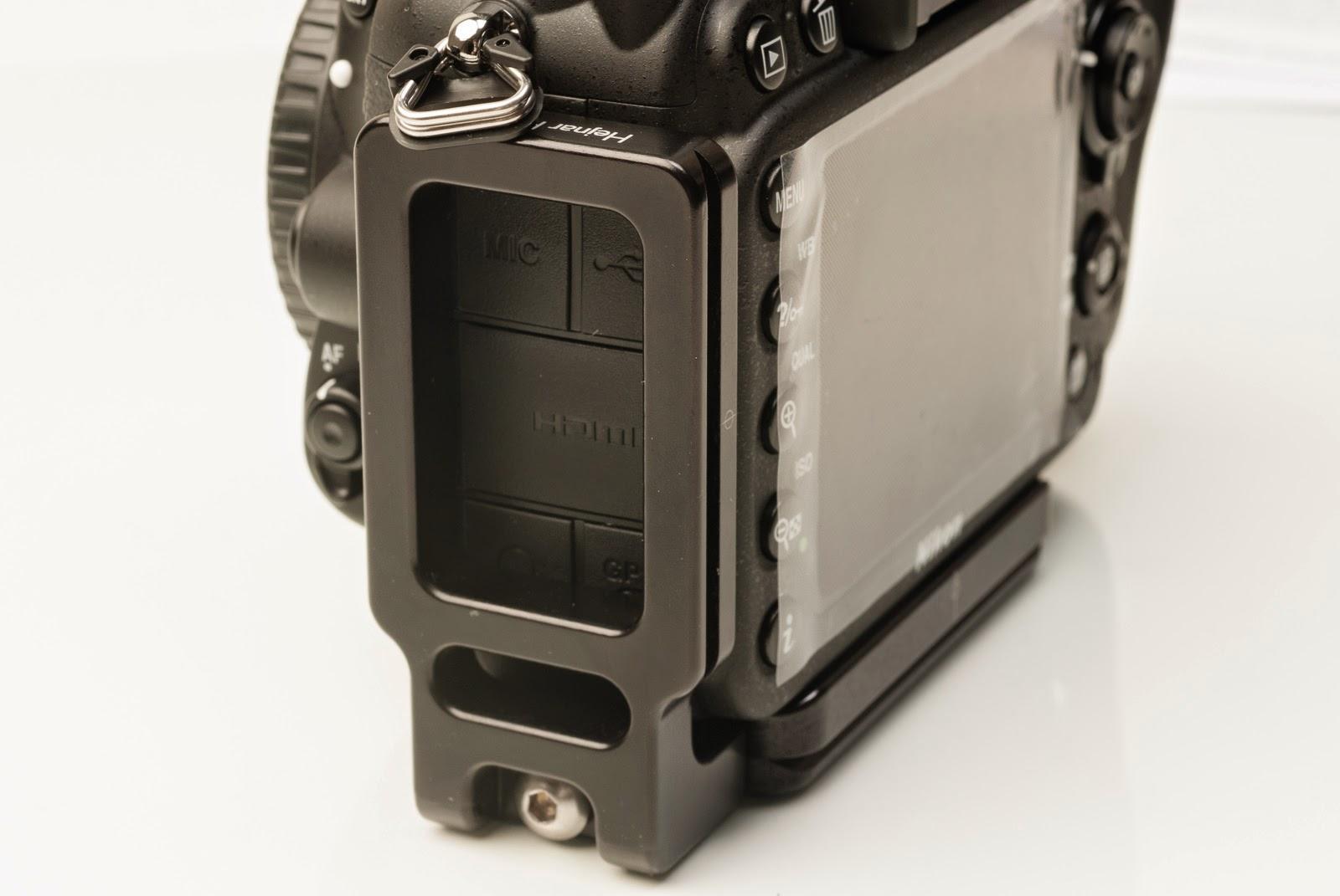 Nikon D7100 w/ ND-7100 L bracket - side