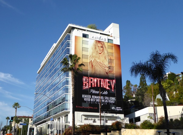 Giant Britney Spears Piece of Me billboard Sunset Strip
