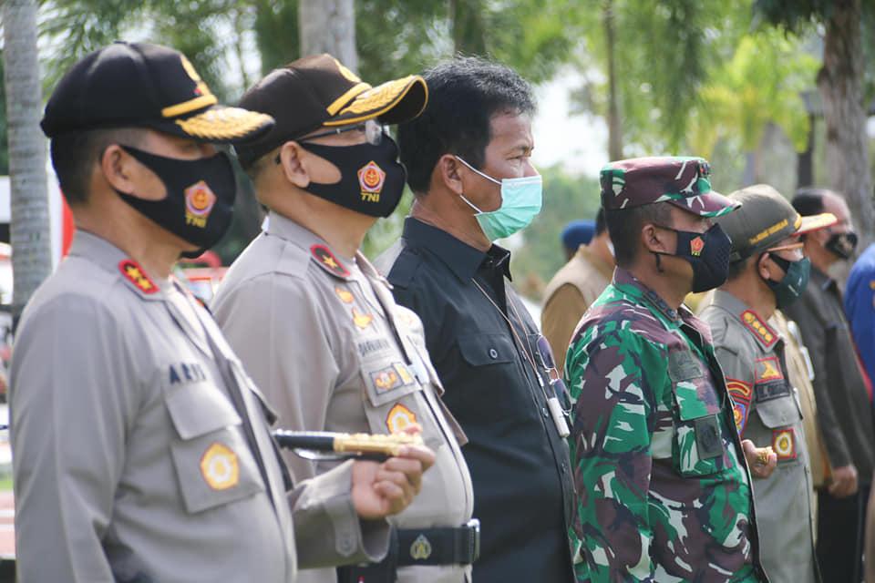 Dihadiri Walikota Batam,  Pangkogabwilhan I Laksamana Madya Memimpin Apel Gelar Pasukan Operasi Lilin Seligi 2020
