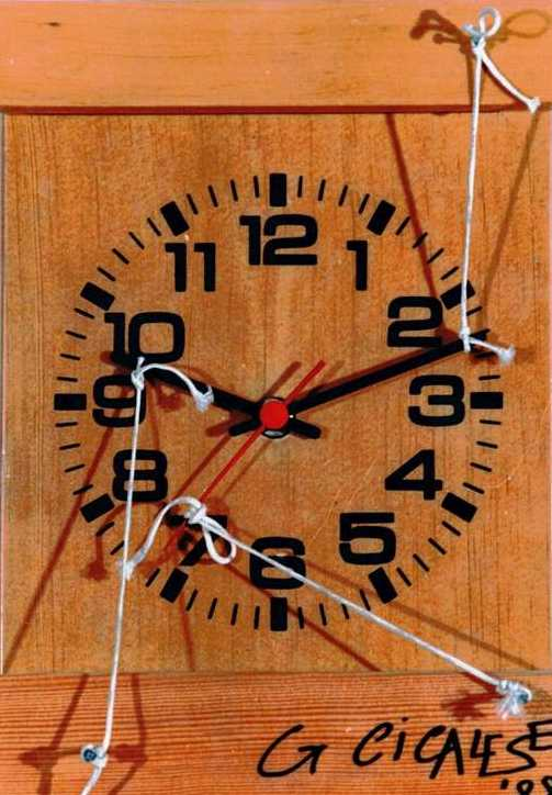 OROLOGIO FIRMATO (1988) ready made (28x20x5) cicalese