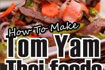 HOW TO MAKE TOM YAM THAI FOODS