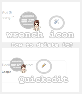 Remove Quick Edit and Wrench Icon