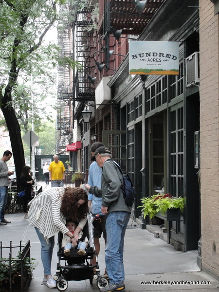 exterior of Hundred Acres restaurant in SoHo NYC