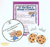 If Your Give a Mouse a Cookie Take Home Book Pack, www.JustTeachy.com