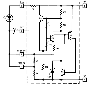 LM3909 Typical 1.5V Flasher Schematic