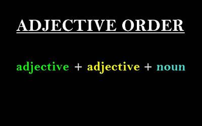Materi Adjective Order (Urutan Kata Sifat yang Benar)
