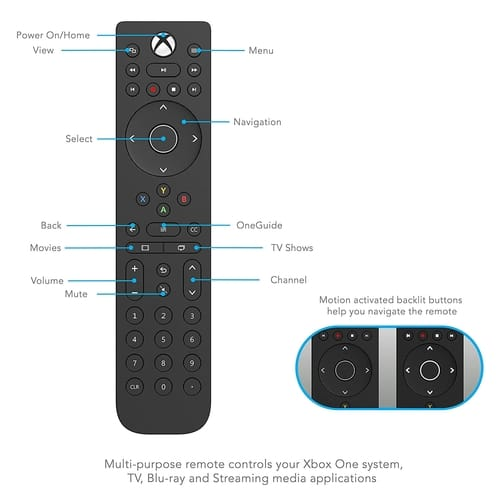 PDP 048-083-NA Xbox One Talon Media Remote Control