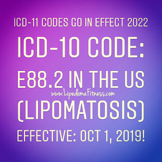 ICD-11 Insurance code for Lipedema, slowly the world is hearing us, Lipedema is a thing.