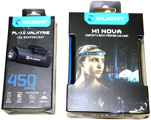Olight H1 Headlamp and PL1-II Weaponlight