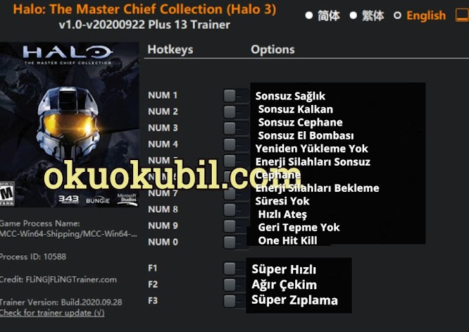 Halo v1.0 The Master Chief Collection (Halo 3) Trainer 13 İndir 2020